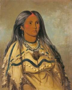 George Catlin (American artist, 1796-1872) Sha-kó-ka, Mint, a Pretty Girl