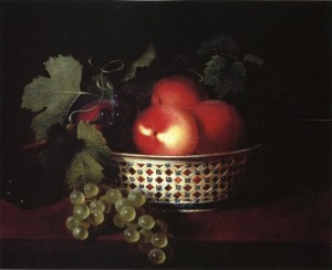 SM Peale peaches-and-grapes-in-a-porcelain-bowl